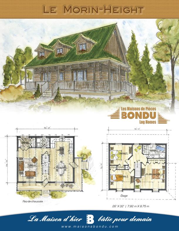 plan de maison 26 x 32