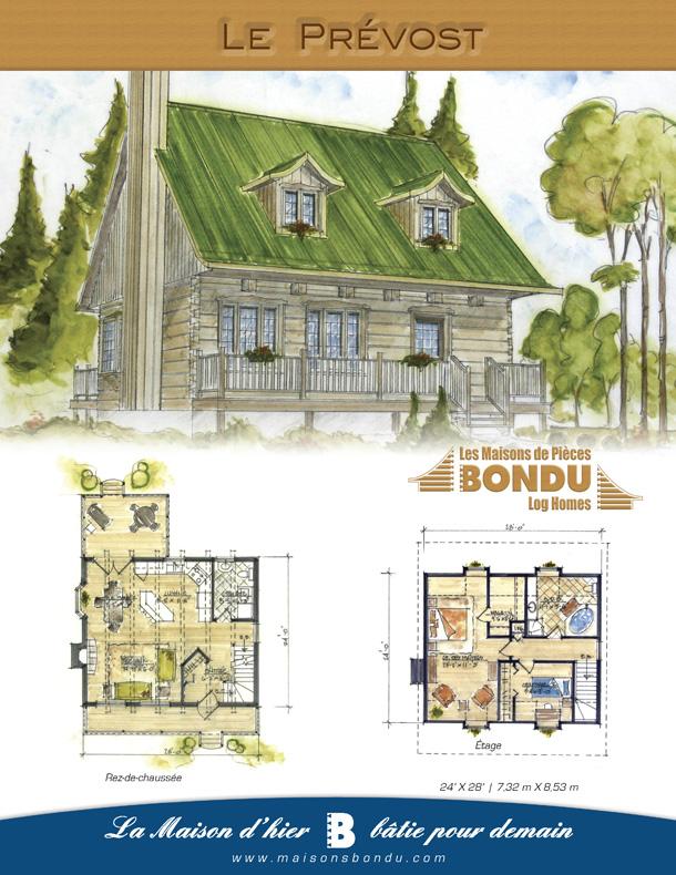 plan de maison 24 x 28